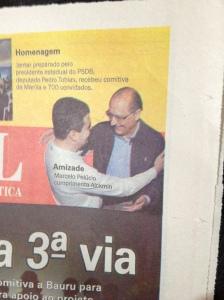 Amizade: Marcelo Pelucio com Geraldo Alckmin